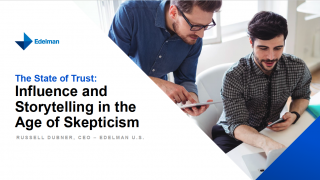 The State of Trust: Influence and storytelling in the age of skepticism